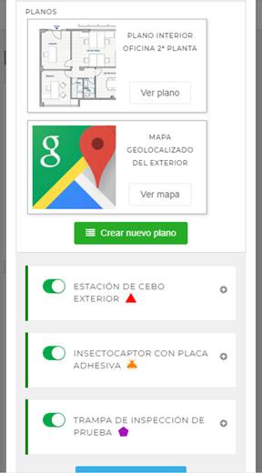 Planos y mapas en EviSane - Software para empresas de control de plagas y sanidad ambiental