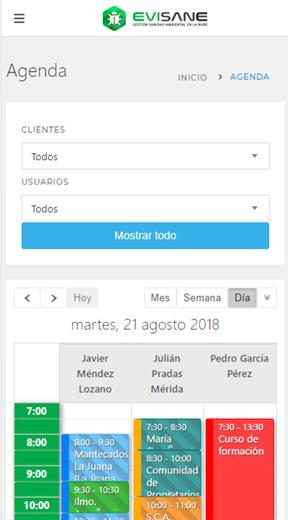 Fondo móvil agenda - Software para empresas de control de plagas y sanidad ambiental