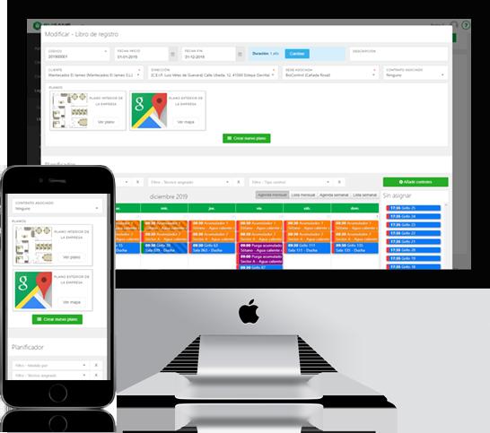 Software para empresas de control de legionella y control de plagas